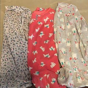 Girls fleece nightgowns